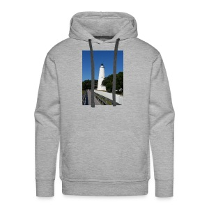 Ocracoke Lighthouse Daylight image - Men's Premium Hoodie