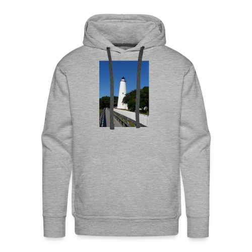 Ocracoke Lighthouse Daylight image - Men's Premium Hoodie