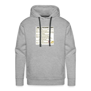 Breakdown of the 12 steps. - Men's Premium Hoodie