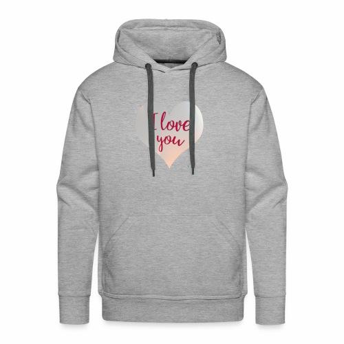 I love you heart - Men's Premium Hoodie