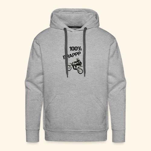100% BRAPPP (Black and White) - Men's Premium Hoodie
