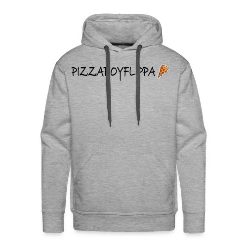 PizzaBoyFlippa - Black - Men's Premium Hoodie