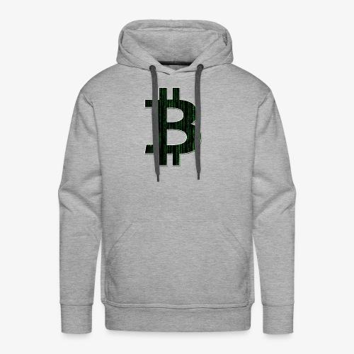 BTC Logo Matrix - Men's Premium Hoodie