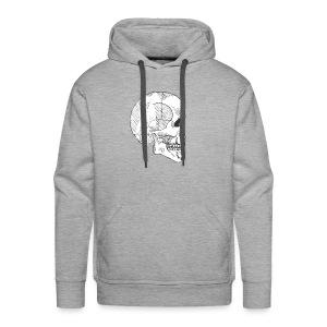 Hashed Skull - Men's Premium Hoodie