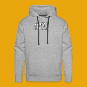 Sunday Night Cartunes Skull - Men's Premium Hoodie