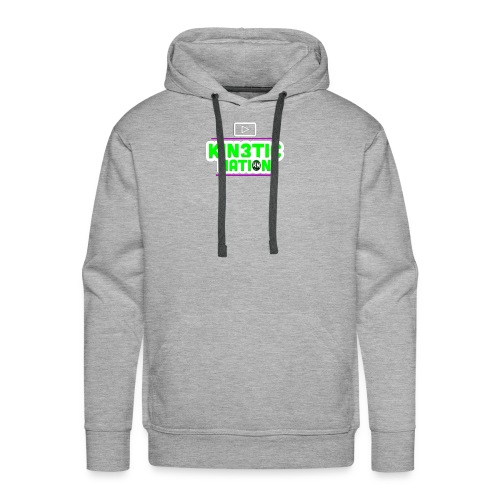 Green Kin3ticNation logo - Men's Premium Hoodie