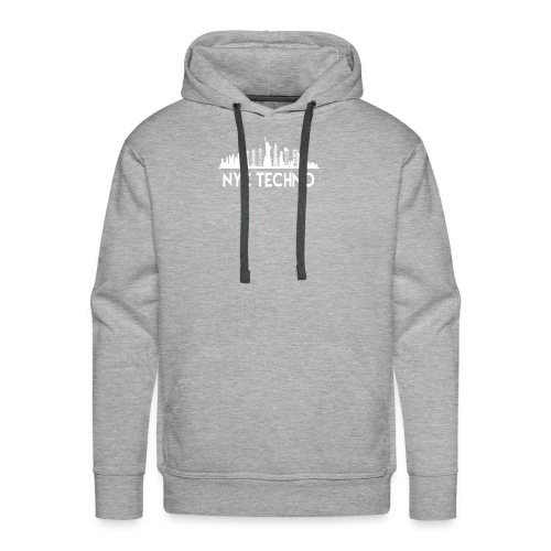 NYC Techno Skyline - Men's Premium Hoodie