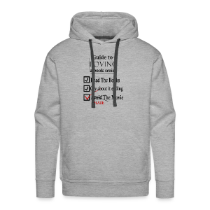 Guide To Loving A Book Series (Black) - Men's Premium Hoodie