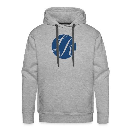 La Rosa Realty Simple Blue Logo - Men's Premium Hoodie