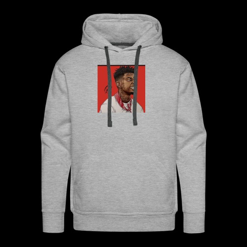 Savage 21 Drawing - Men's Premium Hoodie