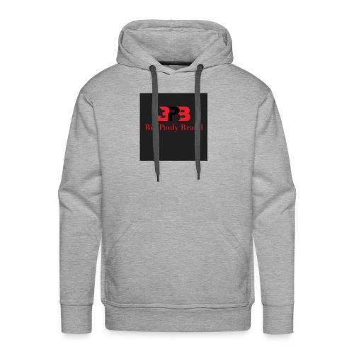 Big Pauly Brand Red Print With Logo - Men's Premium Hoodie