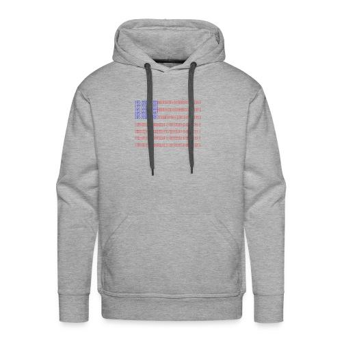 no trump no kkk USA flag - Men's Premium Hoodie