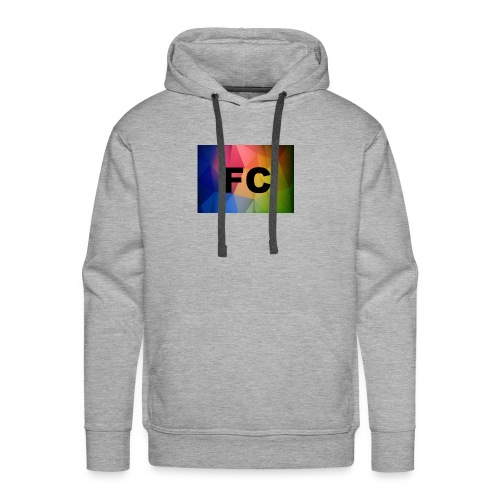 Abstract Colorful Geometric Shapes Background Vect - Men's Premium Hoodie