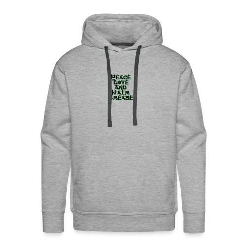 peace love and hair grease - Men's Premium Hoodie