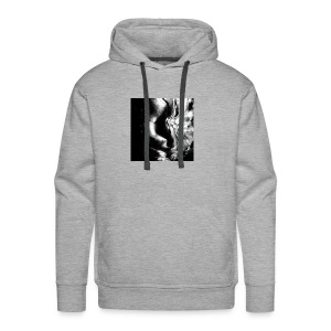 Black_and_White_Abstract_art - Men's Premium Hoodie