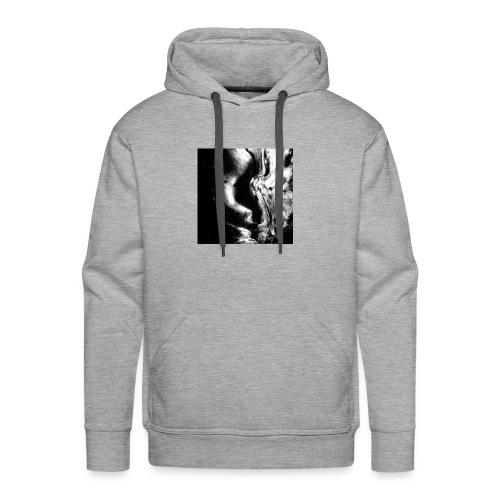 Black_and_White_Abstract_art - Men's Premium Hoodie