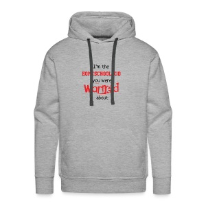 Homeschool Kid Warning - Men's Premium Hoodie