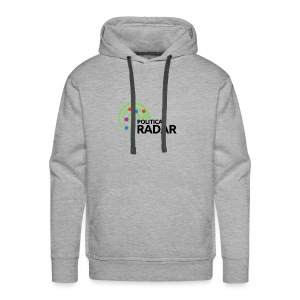 Political Radar Logo - Black - Men's Premium Hoodie