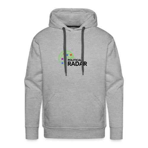 Political Radar Logo - Black - Men's Premium Hoodie