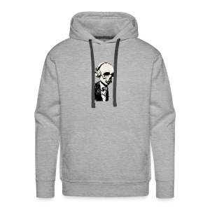 Big Skull With Headphones - Men's Premium Hoodie