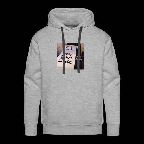 My side of the bed, my dogs side - Men's Premium Hoodie