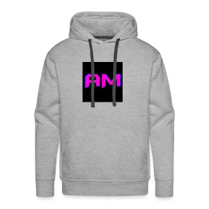 Pink, Blue, and black LOGO - Men's Premium Hoodie