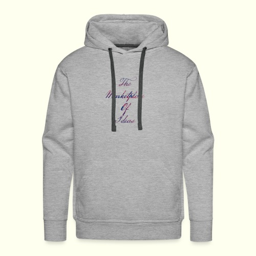 The Marketplace Of Ideas Word Logo - Men's Premium Hoodie