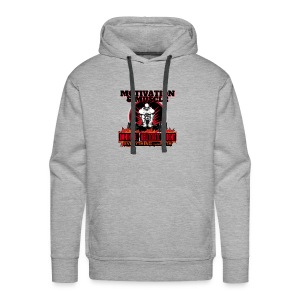 Motivation and Muscle Dominate Obliterate and Dent - Men's Premium Hoodie
