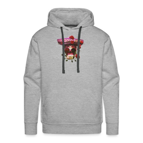 Mexican Skull with roses - Men's Premium Hoodie