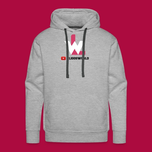 Logo on Grey Sport - Men's Premium Hoodie