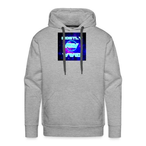 mostly wwe! space logo - Men's Premium Hoodie