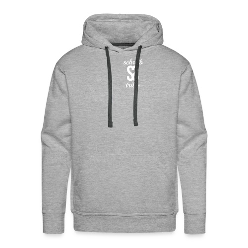 SCHREIB TRIBE MERCH WHITE LOGO - Men's Premium Hoodie