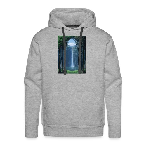 Waterfall lake - Men's Premium Hoodie