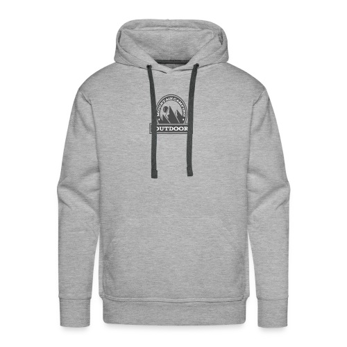 OUTDOOR MOUNTAIN CAMPING Motivational - Men's Premium Hoodie