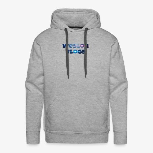 Wesloh Vlogs Word Logo - Men's Premium Hoodie