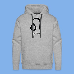Tribe (Leo with White Outline) - Men's Premium Hoodie