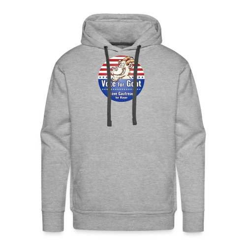 Vote for Goat Button Design - Men's Premium Hoodie
