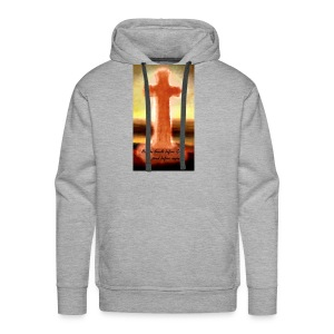 He who kneels before God can stand before anyone - Men's Premium Hoodie