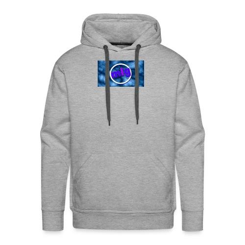 blue gothic grunge background3 - Men's Premium Hoodie