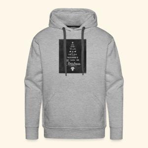 36de4af5f6fc233fcbe6ac1f16d23071 christmas chalkb - Men's Premium Hoodie
