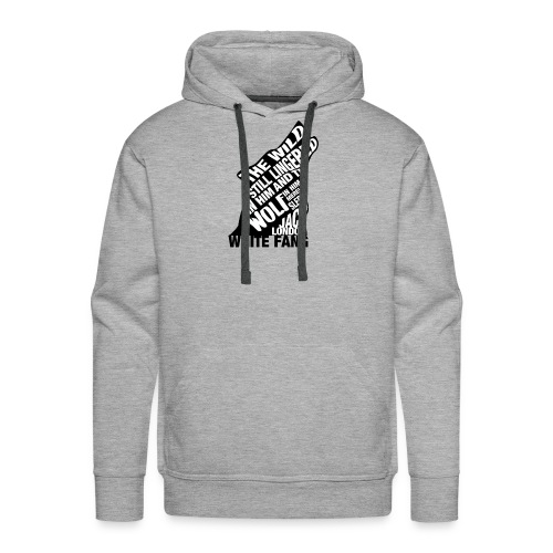 White Fang by Jack London Book Quote Silhouette - Men's Premium Hoodie