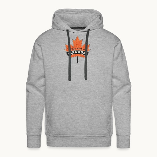 I WAS MADE IN CANADA -Linen -Carolyn Sandstrom - Men's Premium Hoodie
