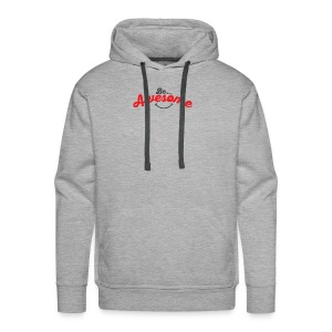 Be Awesome Smiley - Men's Premium Hoodie