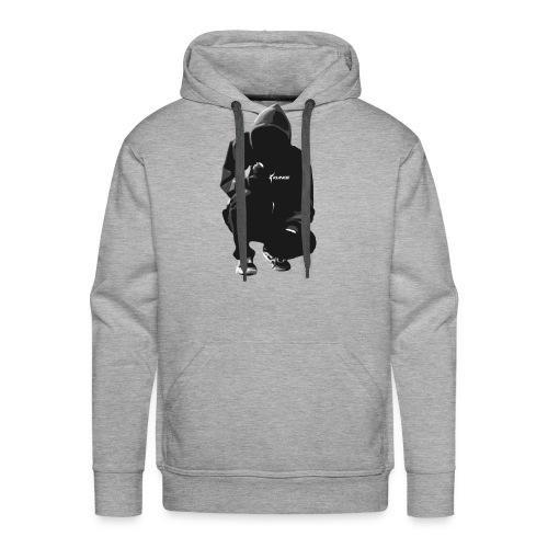 Kunce Clothing Original Hoodie Trace B/W - Men's Premium Hoodie
