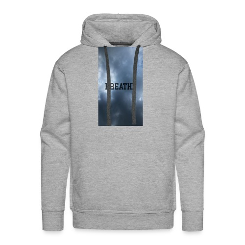 Clouds with Breathe text - Men's Premium Hoodie