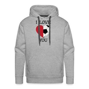 i love you soccer - Men's Premium Hoodie