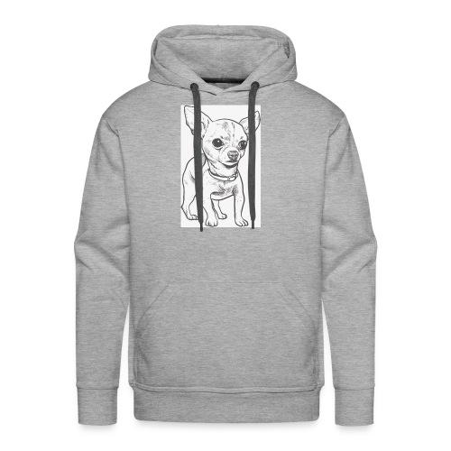 White Bruno logo. - Men's Premium Hoodie
