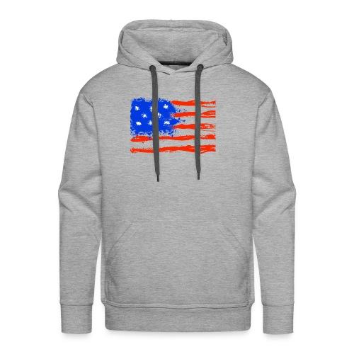 US Flag Flowing Stripes - Men's Premium Hoodie