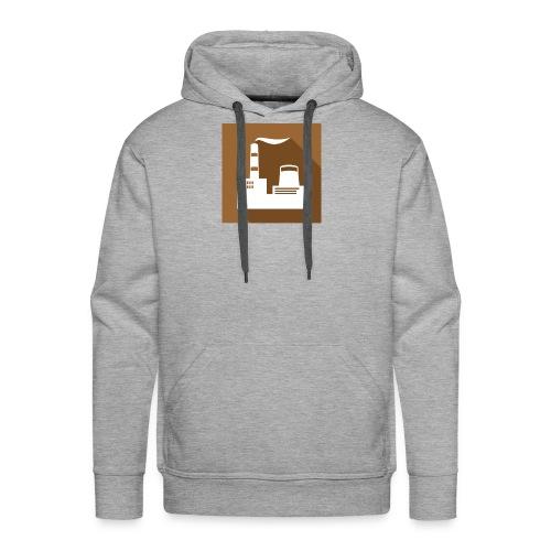 flat factory vector - Men's Premium Hoodie