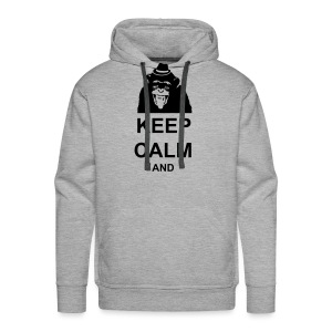 KEEP CALM MONKEY CUSTOM TEXT - Men's Premium Hoodie